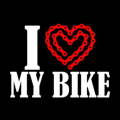 i heart my bike light black