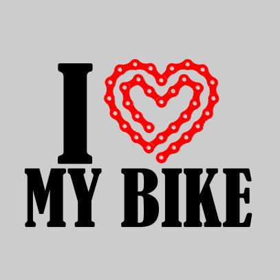 i heart my bike light grey