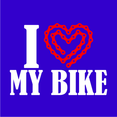 i heart my bike light royal blue