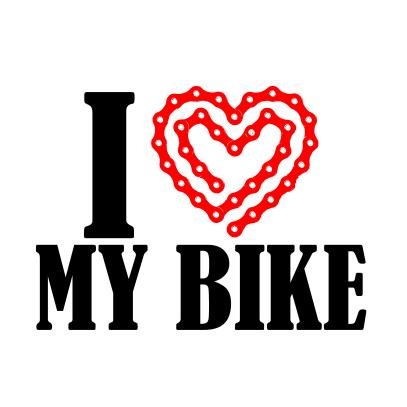 i heart my bike light white