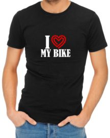 i heart my bike mens tshirt