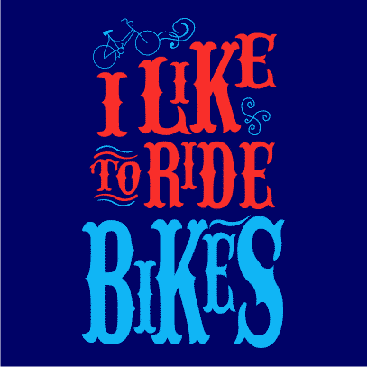 i like to ride bikes navy