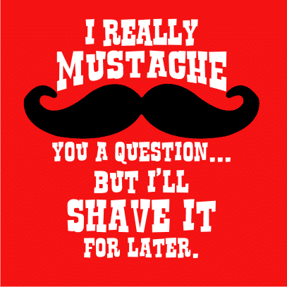 i really mustache red