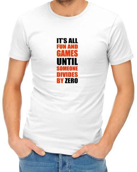 its all fun and games mens tshirt