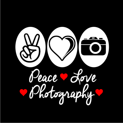 peace love photography black