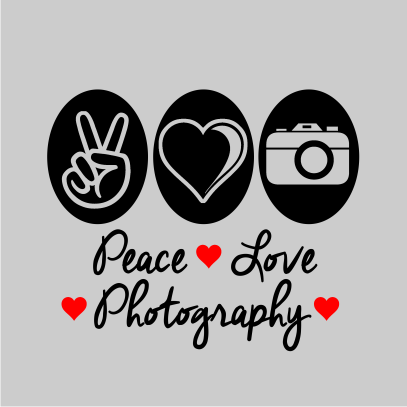 peace love photography grey