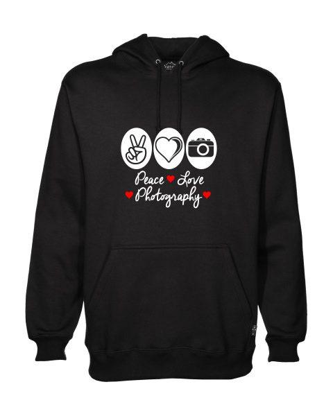 peace love photography hoodie