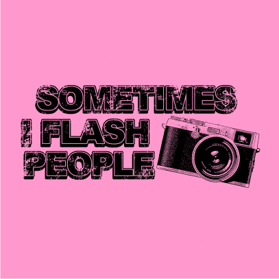 sometimes i flash people light pink