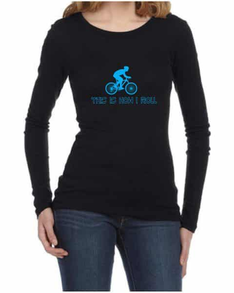 this is how i roll ladies long sleeve shirt