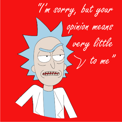 your opinion means very little red