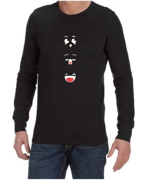 Anime faces mens long sleeve