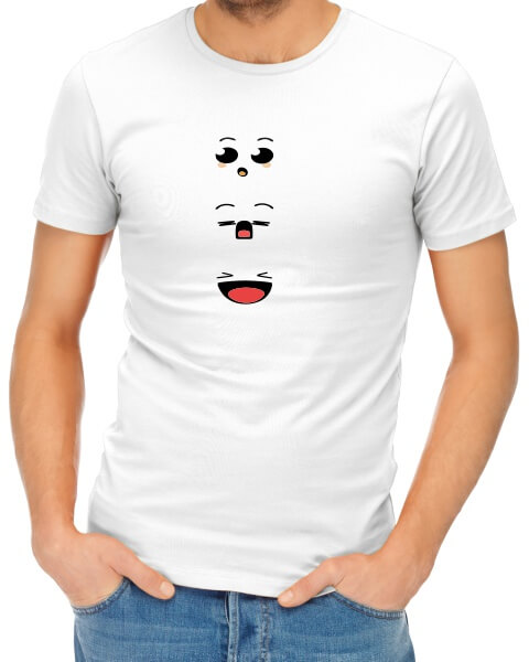 Anime faces mens short sleeve