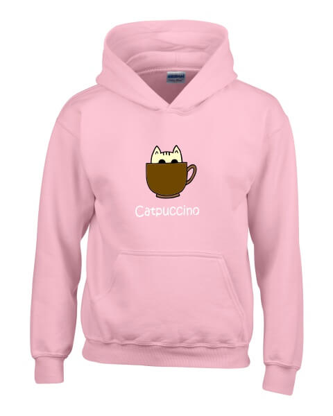 Catpuccino ladies hoodie