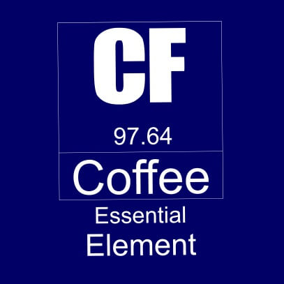 Coffee essential element dark blue