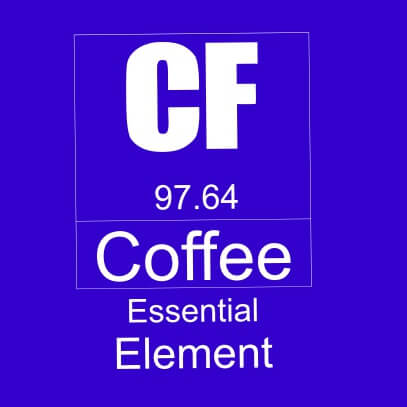 Coffee essential element light blue
