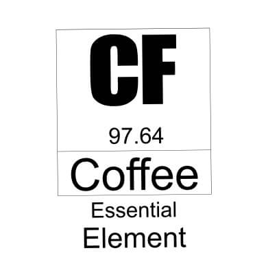 Coffee essential element white