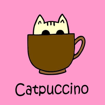 Catpuccino pink
