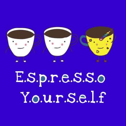 Espresso yourself light blue