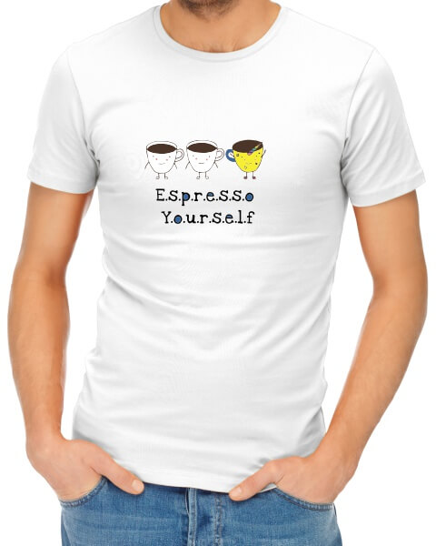 Espresso yourself mens short sleeve shirt