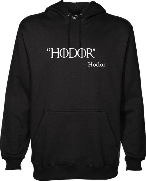Hodor Black Hoodie