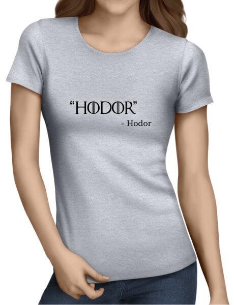 Hodor Ladies Grey Shirt