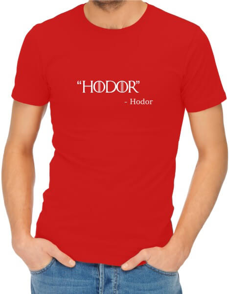Hodor Mens Red Shirt