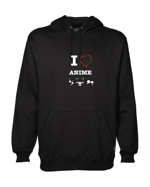 I love anime faces mens hoodie