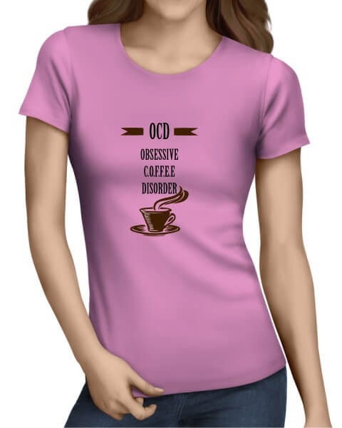 OCD coffee ladies short sleeve shirt