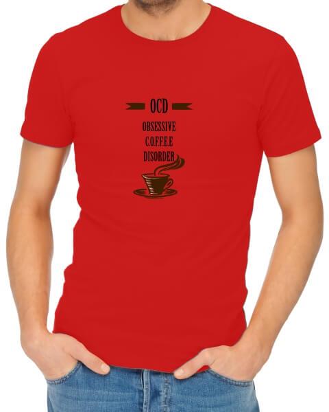 OCD coffee mens short sleeve shirt