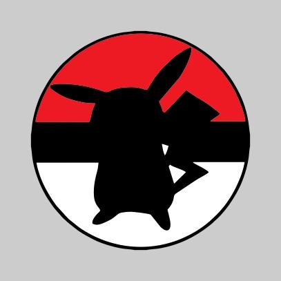 Pikachuball logo Grey