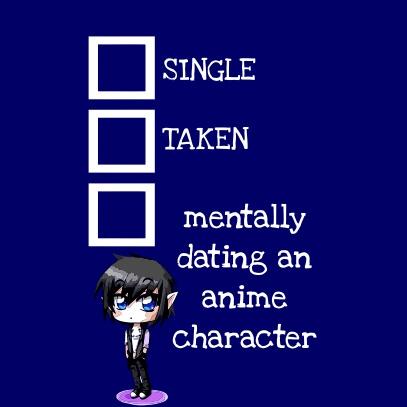 Relationship Status Anime Dark blue