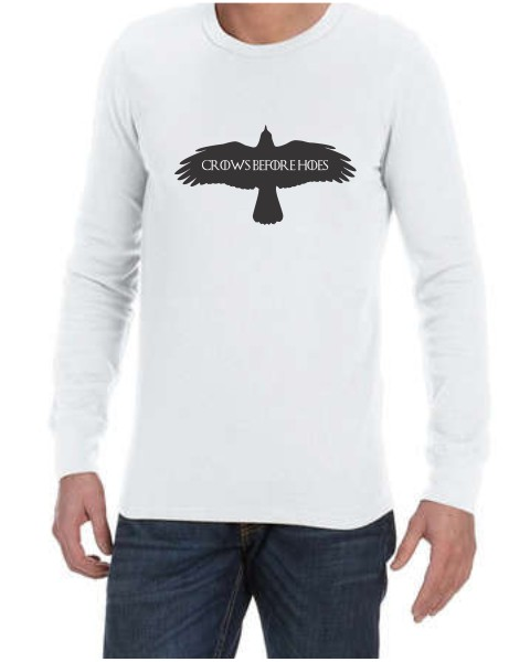 crows before hoes mens long sleeve shirt