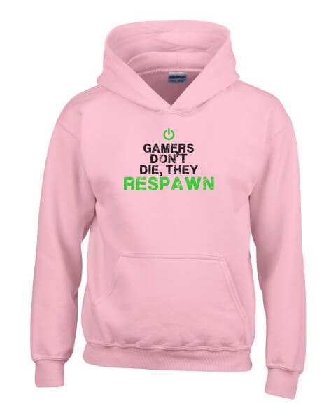 gamers dont die ladies hoodie
