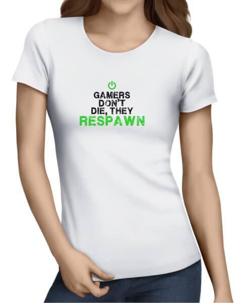 gamers dont die ladies short sleeve
