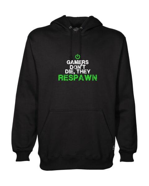 gamers dont die mens hoodie