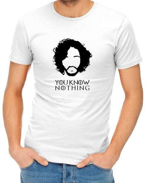 you know nothing mens tshirt