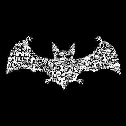 Bat Collage Black
