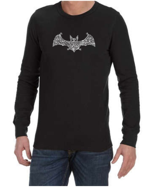 Bat Collage mens long sleeve