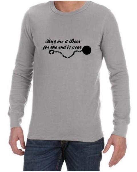 Buy Me A Beer Grey LS Shirt