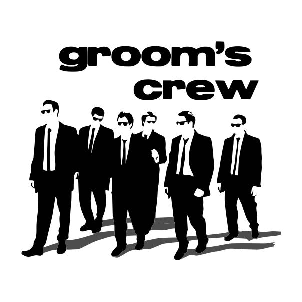Grooms Crew White