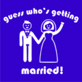 Guess Who_s Getting Married Royal Blue