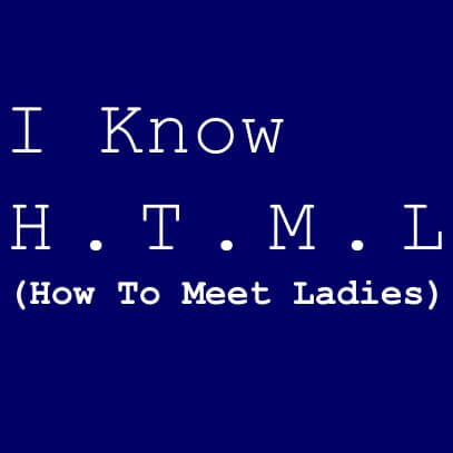 I know HTML dark blue