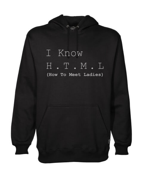 I know HTML mens hoodie