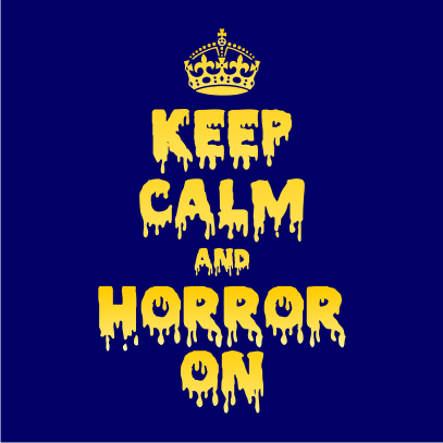 Keep Calm and Horror On Navy