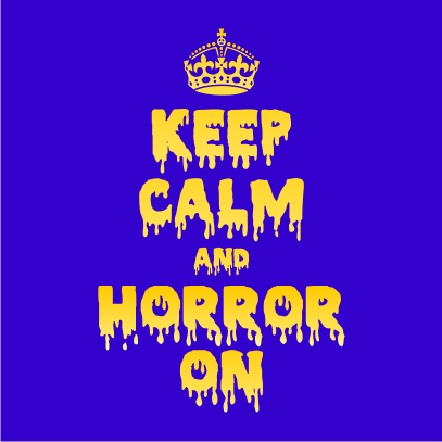 Keep Calm and Horror On Royal Blue