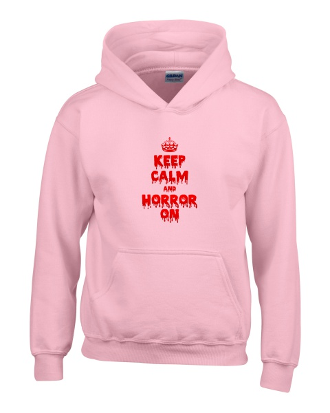 Keep Calm and Horror On ladies hoodie