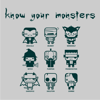 Know Your Monsters Grey
