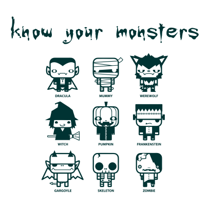 Know Your Monsters White