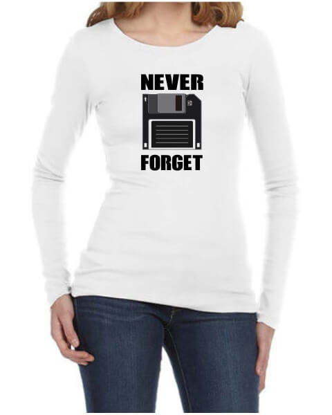 Never Forget ladies long sleeve shirt