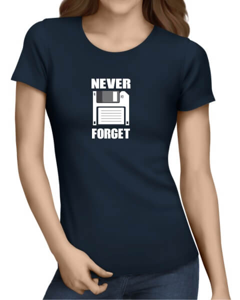 Never Forget ladies short sleeve shirt